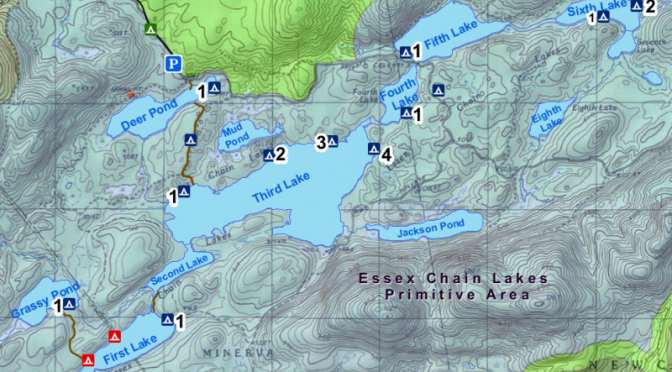 Essex Chain Lakes - Map