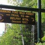 Belfry Mountain Fire Tower - Sign