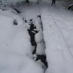 It has been below zero for days (Arctic plunge Jan 2014), but streams still flow!
