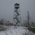 Fire tower in winter