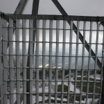 Ice buildup on the tower from low clouds.