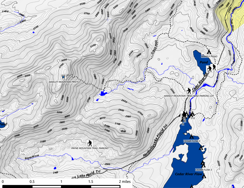 Wakely Mountain Map