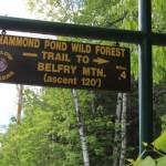Belfry Mountain Fire Tower - Sign